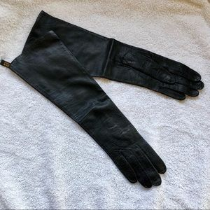 Vintage French Leather Gloves Silk Lining 6 1/2